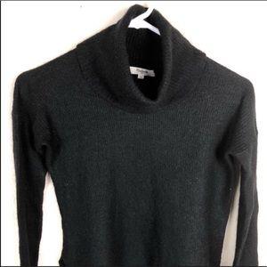 Madewell black sweater. Cowl neck, highlow hemline